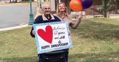 عجوز-يتحايل-على-كورونا-بطريقة-مبتكرة-ليحتفل-مع-زوجته-بعيد-زواجهما-الـ-67