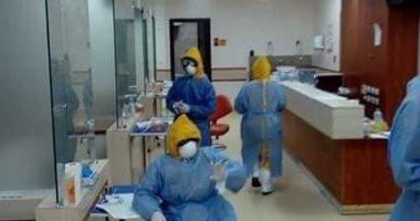 احتفال-طاقم-الأمن-بمستشفى-إسنا-للحجر-الصحى-بتعافى-29-حالة-من-كورونا-(فيديو)