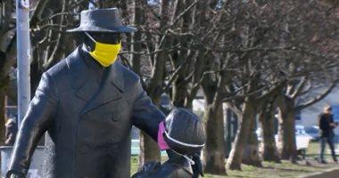 """للتوعية-بمخاطر-كورونا-التماثيل-فى-ليتوانيا-لابسة-""""كمامات"""".-فيديو-وصور"""