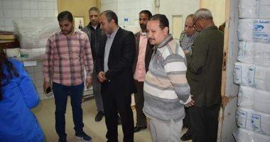 رئيس-مدينة-أبو-قرقاص-بالمنيا-يتفقد-المستشفى-العام-وغرف-العزل-بها.-صور