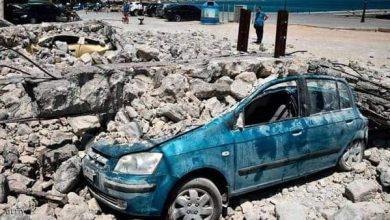 صورة زلزال يضرب اليونان