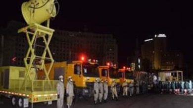 صورة القوات المسلحة تقوم بأعمال التطهير والتعقيم الوقائى للاماكن الحيوية بالقاهرة