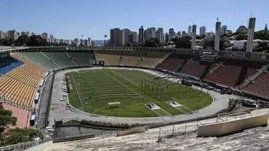 صورة تحويل ملعب باكيمبو بالبرازيل إلى مستشفى لعلاج كورونا