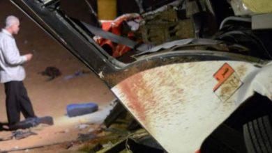 صورة اشلاء على الطريق … حادث مروع على الدائري بالجيزة