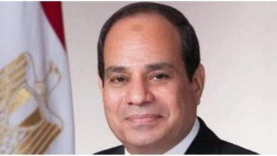 صورة السيسي :تحية للشعب المصري على التزامه ومعاونته للحكومة واستجابه للحظر