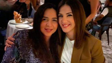 صورة دنيا سمير غانم تهنئ أختها إيمي بعيد ميلادها