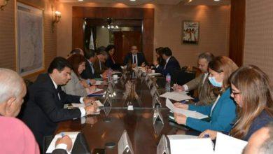 صورة إجتماع لجنة إدارة الأزمات والمخاطر بوزارة السياحة والآثار لمجابهة تداعيات فيروس كورونا على القطاع السياحى