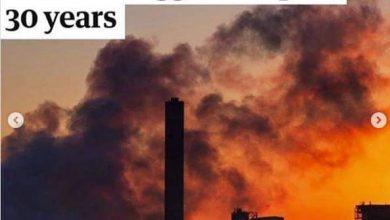 صورة توقف بعض المصانع وانعزال أكثر من نصف سكان الكرة الأرضية فى بيوتهم بسبب كورونا كان له أكبر الأثر على تحسن الوضع البيئى.
