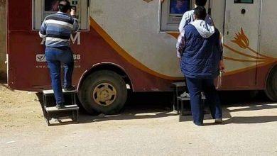 صورة سيارة متنقلة لتقديم خدمات الصرف الآلي من بنك مصر