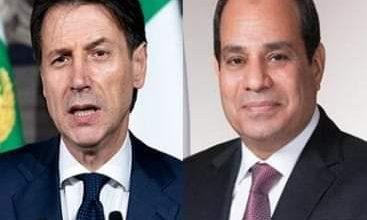 صورة الرئيس السيسي يقدم العزاء هاتفياَ لرئيس الوزراء الايطالي لضحايا كورونا
