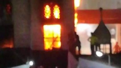 صورة حريق في ضريح الشيخ أبو عمرة في جرجا