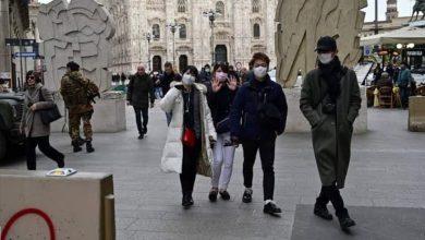 صورة إنخفاض عدد الوفيات بإيطاليا