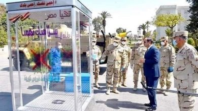 """صورة من إنتاج القوات المسلحة """"عشان بلدنا"""" جهاز لتعقيم المصلين برمضان"""