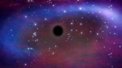 صورة صورة للثقب الأسود يبث طاقة عالية