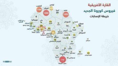 صورة الدول العربية الأكثر تاثرآ في أفريقيا بفيروس كورونا