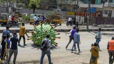 صورة الهند: سيارة كورونا تنشر الوعي حول الفيروس في مدينة حيدر أباد