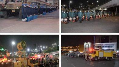 صورة مواصلة القوات المسلحة للتعقيم والتطهير في القاهرة والاسكندرية