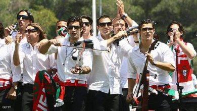 صورة لاعبو المنتخب البرتغالي رونالدو ورفاقه يدعمون هواة الكرة في البرتغال