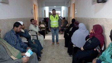 صورة بالتعاون مع مؤسسات المجتمع المدنى تنظيم صرف المنحة بأولاد صقر
