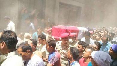 صورة بالصور جنازة عسكرية مهيبة لشهيد مطاى بالمنيا