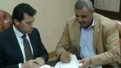 صورة خلال لقاء معه .. وزير الشباب يستجيب لنائب سمالوط لدعم مراكز الشباب بمبلغ 175 الف جنية