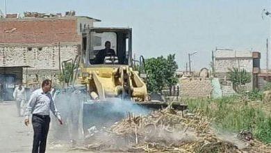 صورة حمله نظافة مكبرة بمجلس قروي قلوصنا بسمالوط