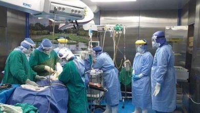 صورة ولادة قيصرية لسيدتان مصابتان بكورونا في مستشفى العزل بالزقازيق