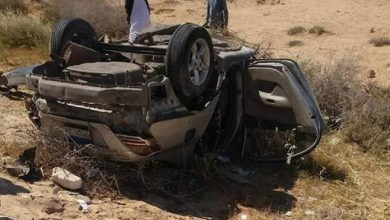 صورة حادث سياره يؤدي الى مصرع شخصين