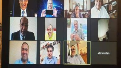 """صورة اجتماع اتحاد الجاليات """" بالمانيا""""عبر الفيديو من أجل البحث فى مستجدات كورونا"""