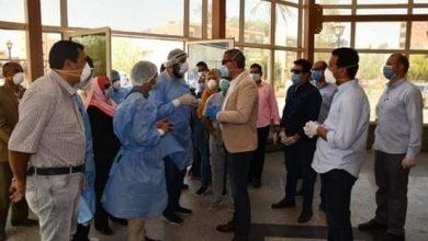 صورة محافظ الفيوم يتفقد مستشفى طامية المركزي