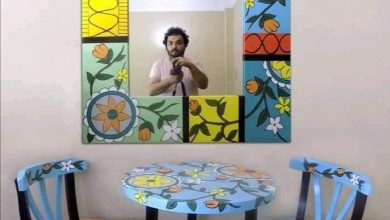 Photo of بالألوان الفنان عمرو البهي يحول الأثاث القديم إلى تحف فنية