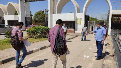 صورة جامعة المنيا :إجراءات احترازية مشددة واستجابة وتطبيق من طلاب السنوات النهائية لليوم الثاني