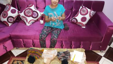 صورة رنا أبوالعلا الطفلة التي أبدعت في الأعمال اليدوية