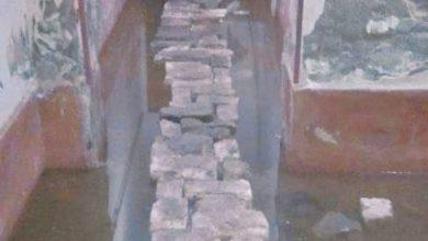 صورة منازل غارقه بقريه صفط الخمار واستغاثه نجاه لمحافظ المنيا