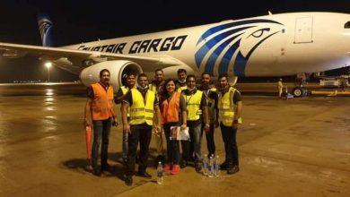 صورة شركة مصر للطيران للشحن الجوي تسير اولى رحلاتها إلى سريلانكا