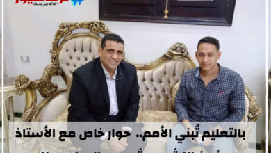 """صورة مرشح سمالوط ومطاي """" الليثي """" يفتح صدره لترند نيوز : """" المعلم """" قضيتي الأساسية"""