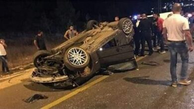 صورة حادث مؤلم.. انقلاب سيارة على طريق الزقازيق الزراعي و إصابة 4 أشخاص