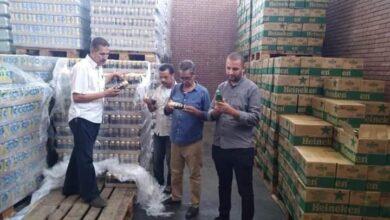 صورة تحرير 10 محاضر تموينية ومصادرة 2256 زجاجة خمور داخل مخزن بالمنيا الجديدة