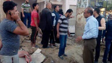 صورة حملة مكبرة لمجلس مدينة المنيا لرفع الاشغالات بطريق مصر أسوان