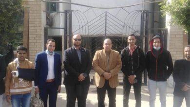صورة وكيل الشباب بالمنيا وقيادات إئتلاف شباب الصعيد يبحثان سبل التعاون بينهما