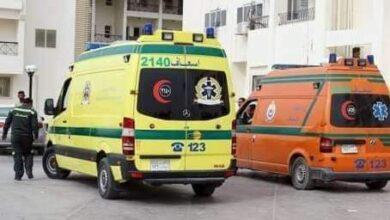 صورة إصابة 18 شخص في حادث تصادم علي صحراوي بمدخل بني مزار المنيا