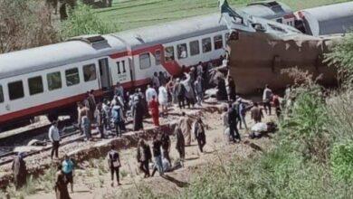 صورة وفاة 32مواطن في حادث تصادم قطاري بمحافظة سوهاج
