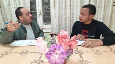 """صورة حوا مع رئيس شباب """"بيت العائلة"""" بملوي"""