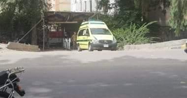 صورة إصابة 8 مواطنين باختناق بسبب تسرب مادة كيميائية على طريق السويس