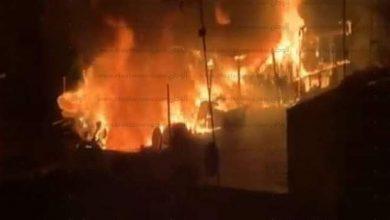 صورة النائب حافظ عمران بعد وفاة والدته في حريق: «البيت كله ولّع.. والجنازة اليوم»