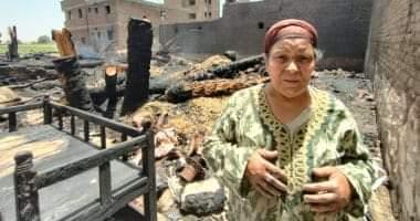 صورة أهالى قرية بالأقصر يروون تفاصيل الحريق الذى التهم 31 منزلا وحوش ماشية