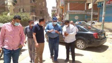 صورة رئيس مدينة سمالوط الجديد يترأس حملة اشغالات مكبرة .. وتحرير 50 محضرا مخالفا