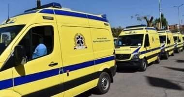 صورة إصابة 8 أشخاص فى 3 حوادث سير بمحافظة بنى سويف