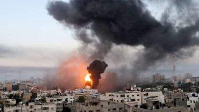 صورة إسرائيل تدمر مبنى قناة «الجزيرة» ووكالة «أسوشيتدبرس» في غزة