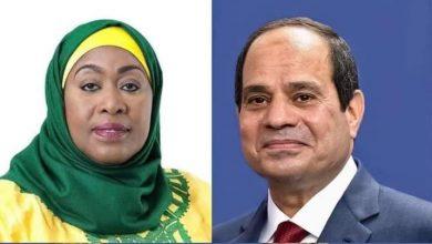 صورة «السيسي» يجدد التهنئة لرئيسة تنزانيا المتحدة و سامية حسن تشيد بالدعم المصري للجهود التنموية التنزانية